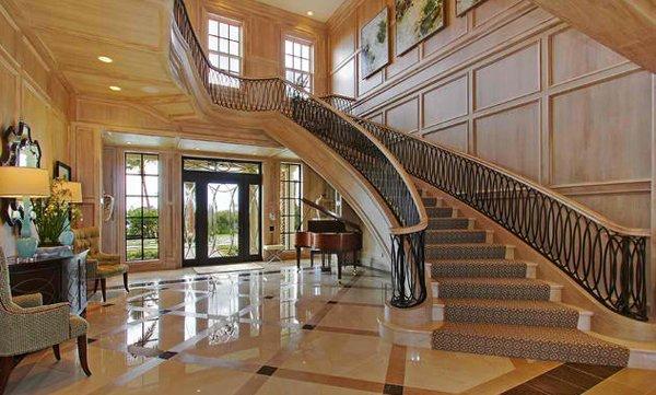 15 concrete interior staircase designs home design lover for Grand staircase design