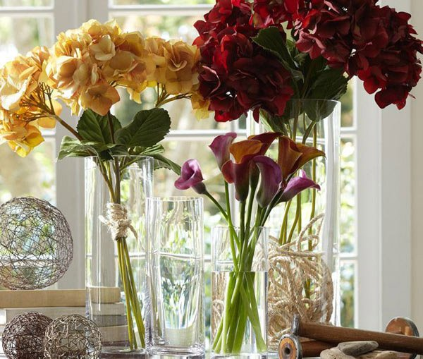 Aegean Clear Glass Vases