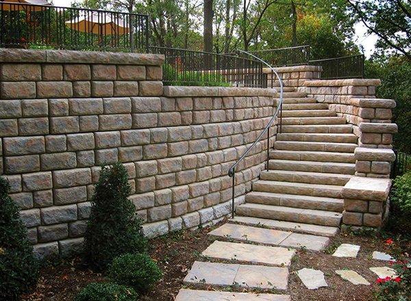Large Blocks for Concrete Steps