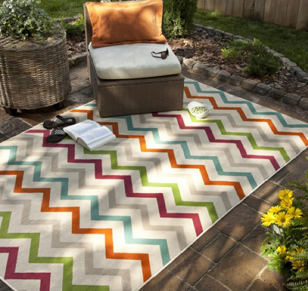 Herringbone Cream Indoor/Outdoor Rug