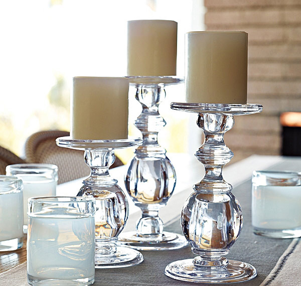 Oslo Glass Candlesticks