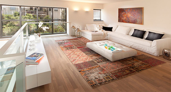 15 persian area rugs home design lover for Modern living room persian rug