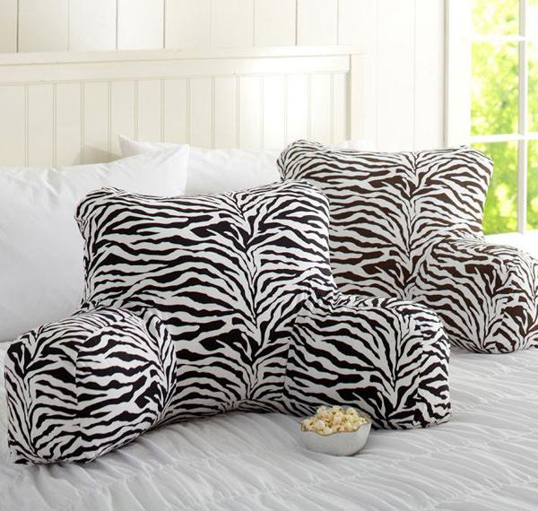 Funky Zebra Lounge Around Pillow