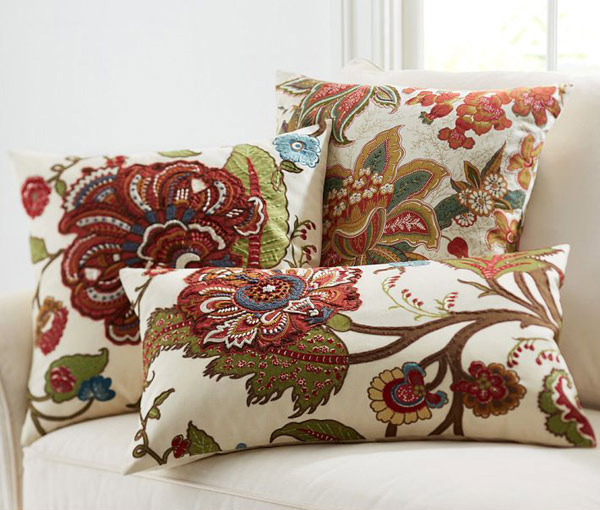 Riley Floral Embroidered Pillow Covers