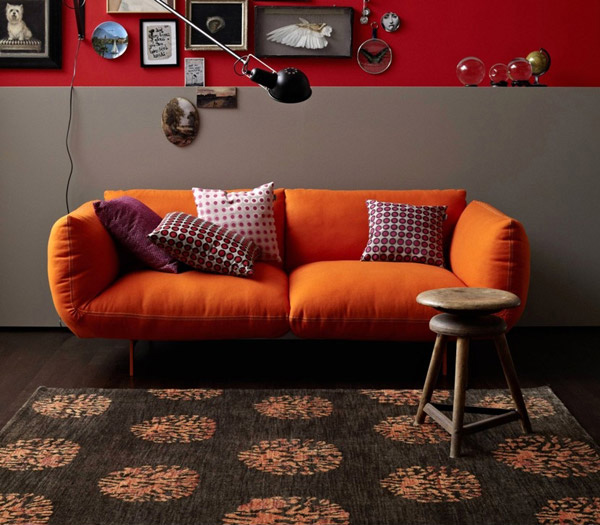 Basanti 6320 Chocolate-Orange Rugs