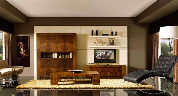 Art Deco Contemporary Living Room. Email; Save Photo. Dark Brown Cabinet
