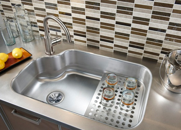 kitchen sinks ideas 15 cool corner kitchen sink designs home design lover 3017