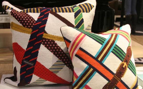 Tie and Belt Needlepoint Rug