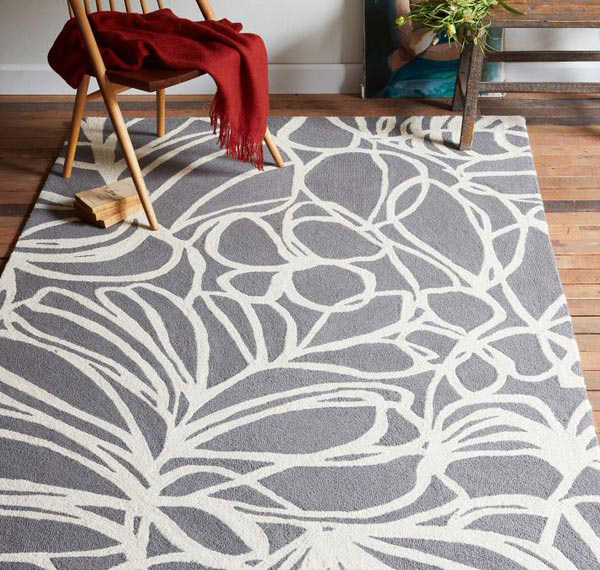 Steel Sketch Wool Rug