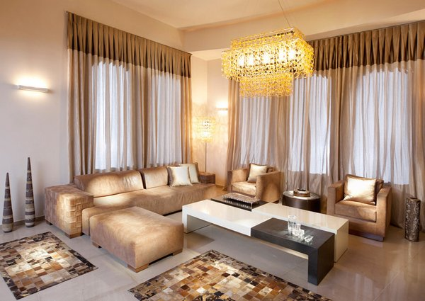 sheer drapery - Luxury Living Room Decorating Ideas