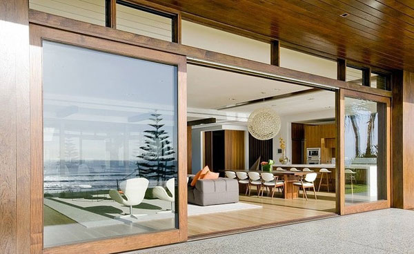 glass door wood frame