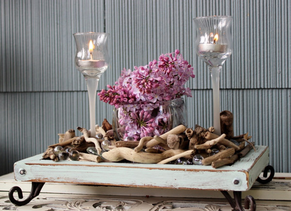 Beach Glam Table Centerpiece