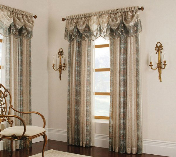 Mist Cheshire Tapered Valance