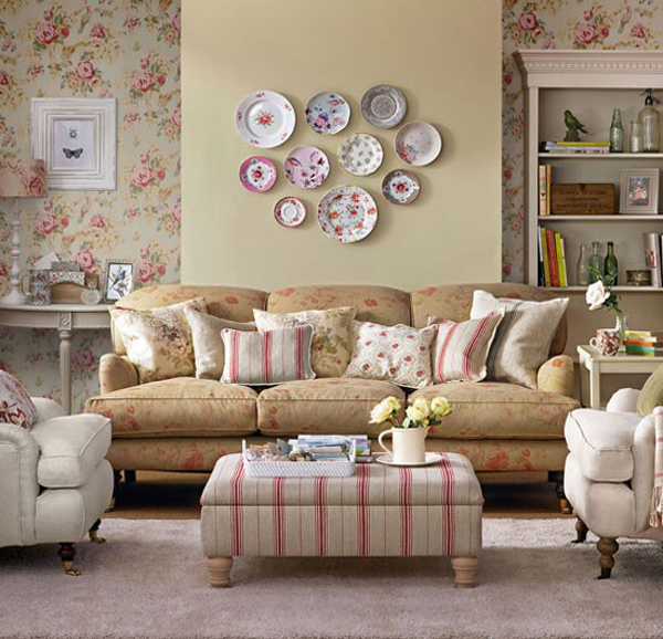 15 living room with floral wallpapers home design lover