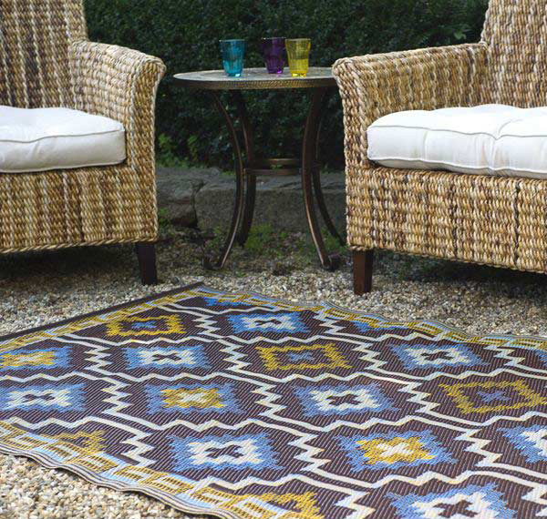 Royal Blue and Chocolate Rug