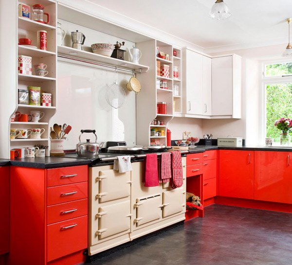 Simple Kitchen Design Hpd453: 15 Extremely Hot Red Kitchen Cabinets