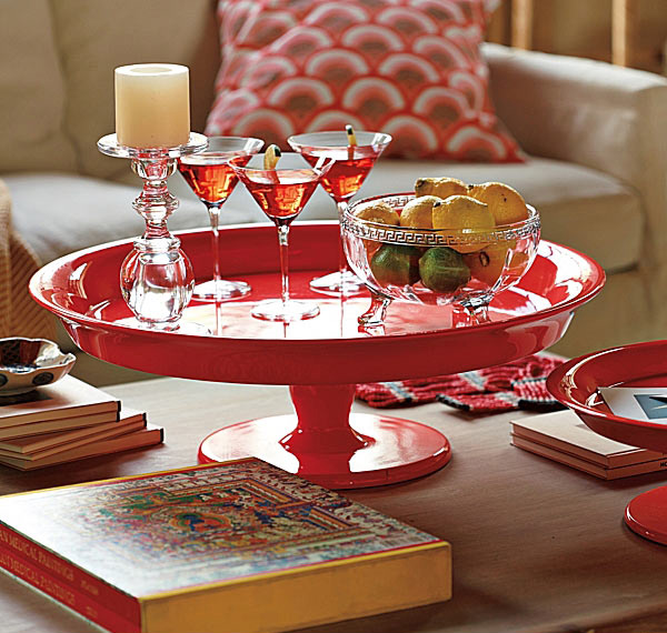 Flame Pedestal Trays