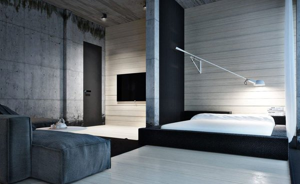 Industrial Bedroom Designs & 15 Industrial Bedroom Designs | Home Design Lover