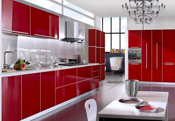 15 Extremely Hot Red Kitchen Cabinets | Home Design Lover