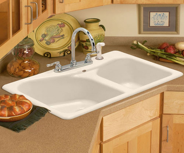 15 cool corner kitchen sink designs home design lover Kitchen design with corner sink