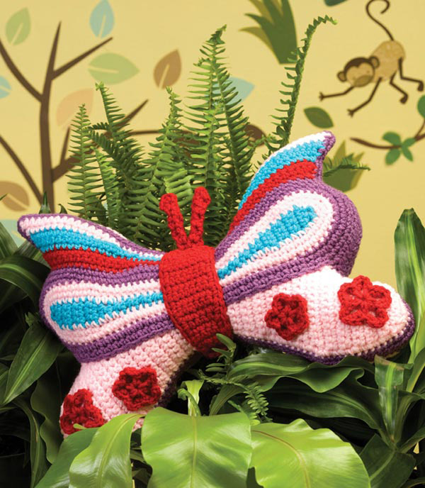 Brilliant Butterfly Pillow Crochet Pattern