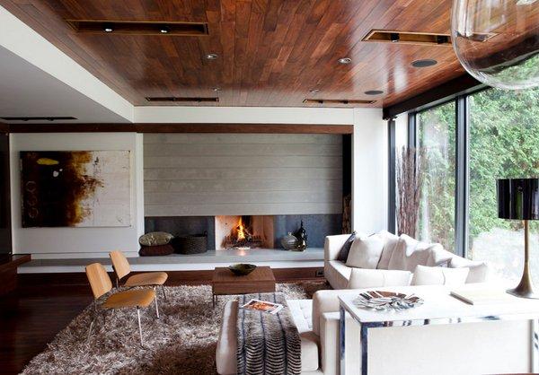 hardwood ceiling