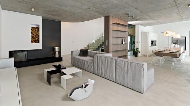 Elegant Home With Concrete Interiors In Czech Republic Home Design Lover