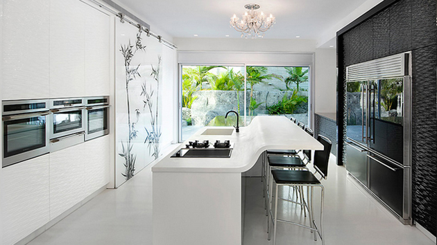 15 modern eat in kitchen designs home design lover for Eat in kitchen designs for small kitchen