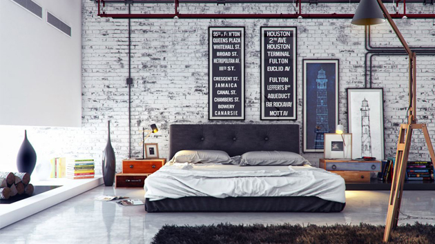 15 industrial bedroom designs home design lover Industrial scandinavian bedroom