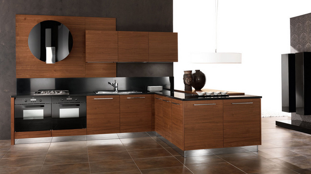 15 designs of modern kitchen cabinets home design lover for Modern kitchen cupboards
