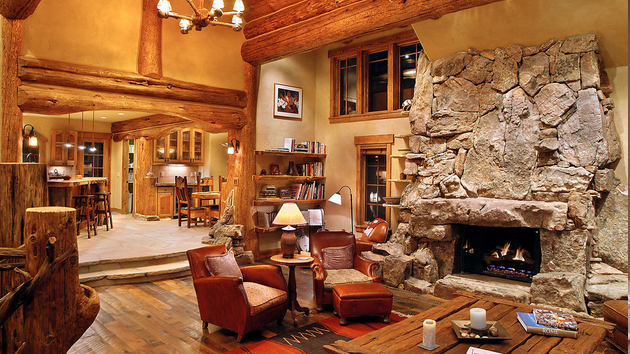 15 homey rustic living room designs home design lover How to decorate a house with two living rooms