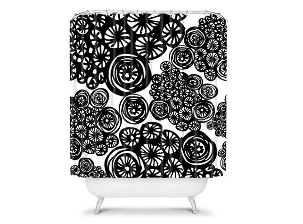 15 Black And White Shower Curtain Designs Home Design Lover