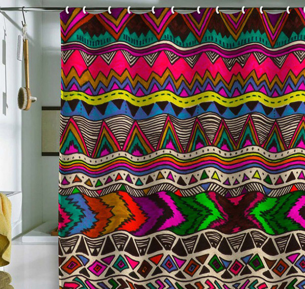 poncho shower curtain - Colorful Shower Curtains