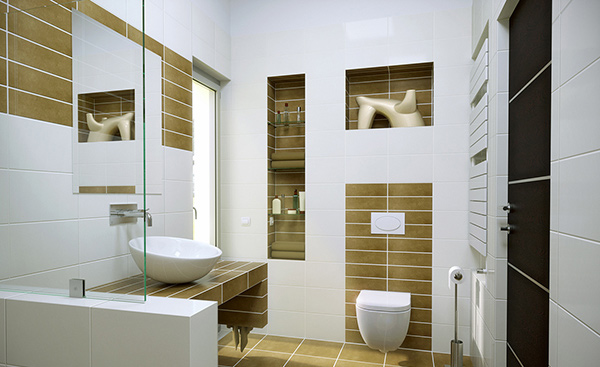 20 contemporary bathroom design ideas home design lover for Small modern bathroom ideas