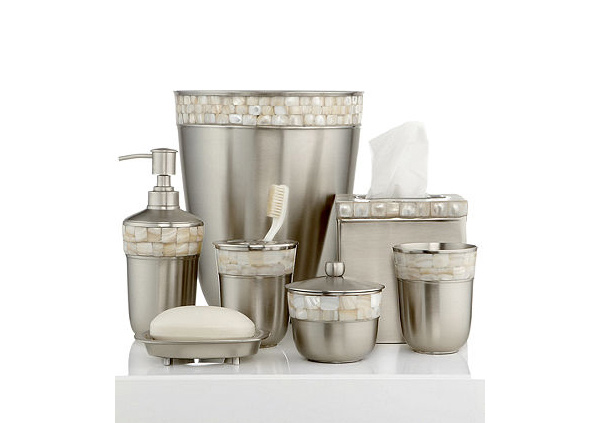 15 trendy modern bathroom accessories set home design lover for Cream bathroom accessories set