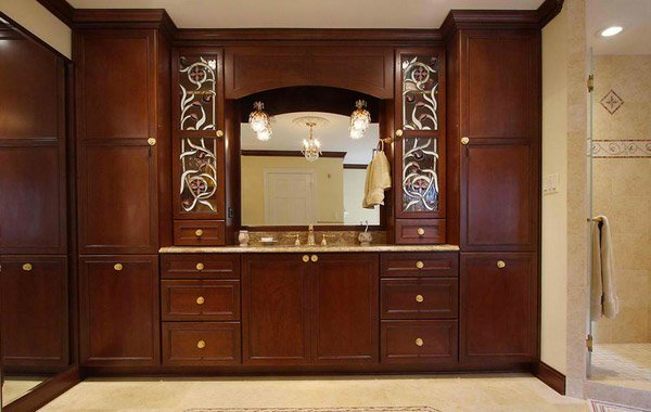 twin tall cabinets
