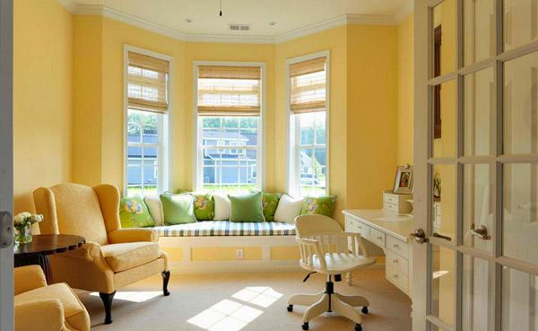 sunny yellow walls
