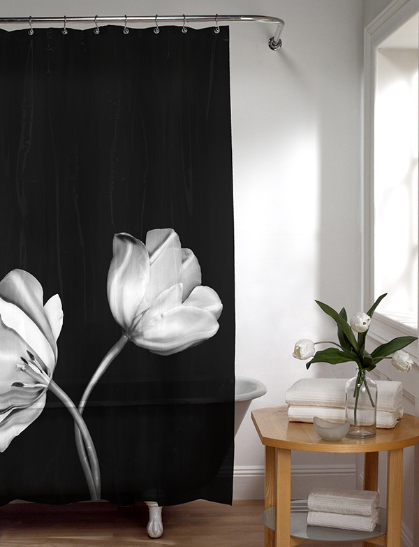 Maytex Tulip Photoreal Shower Curtain