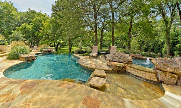 pool stone decks