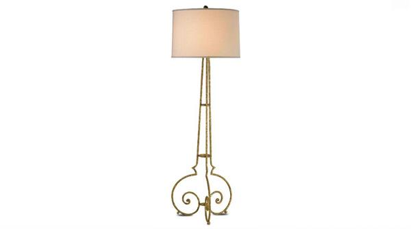 Floor Lamp in Gold Leaf