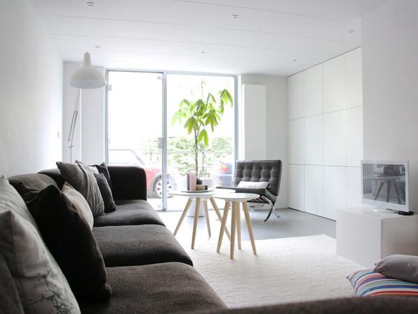 charcoal-hued sofa