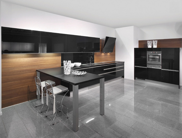 Black Tan Kitchen Designs