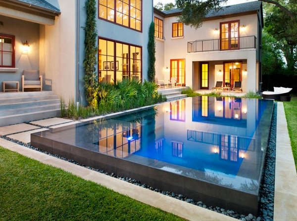 15 Lovely Swimming Pool House Designs Home Design Lover