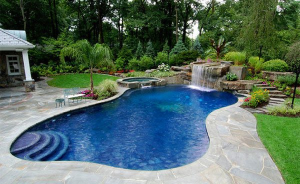 swimming pool stone decks
