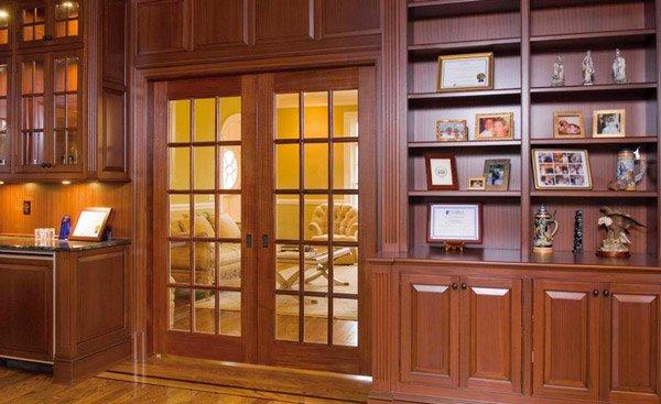 pintu prancis mahoni kayu