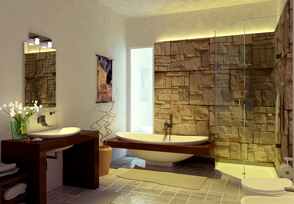 20 contemporary bathroom design ideas home design lover for Modern small bathroom designs 2013