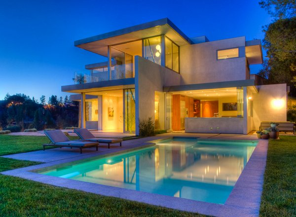15 lovely swimming pool house designs home design lover for Modern house design bloxburg
