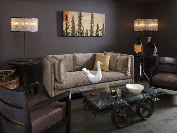 Deep Colors Textures Interieurs An Eclectic Living Room