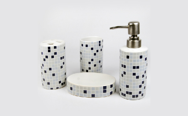 black mosaic bathroom accessories. Modern Mosaic Ceramic Bath 15 Trendy Bathroom Accessories Set  Home Design Lover
