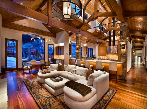 15 Homey Contemporary Open Living Room Ideas | Home Design ...